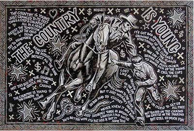 Jon Langford's Song Paintings, #2