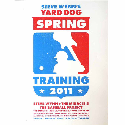 Steve Wynn's Yard Dog Spring Training 2011 Baseball Poster - Yard Dog - Yard Dog Art