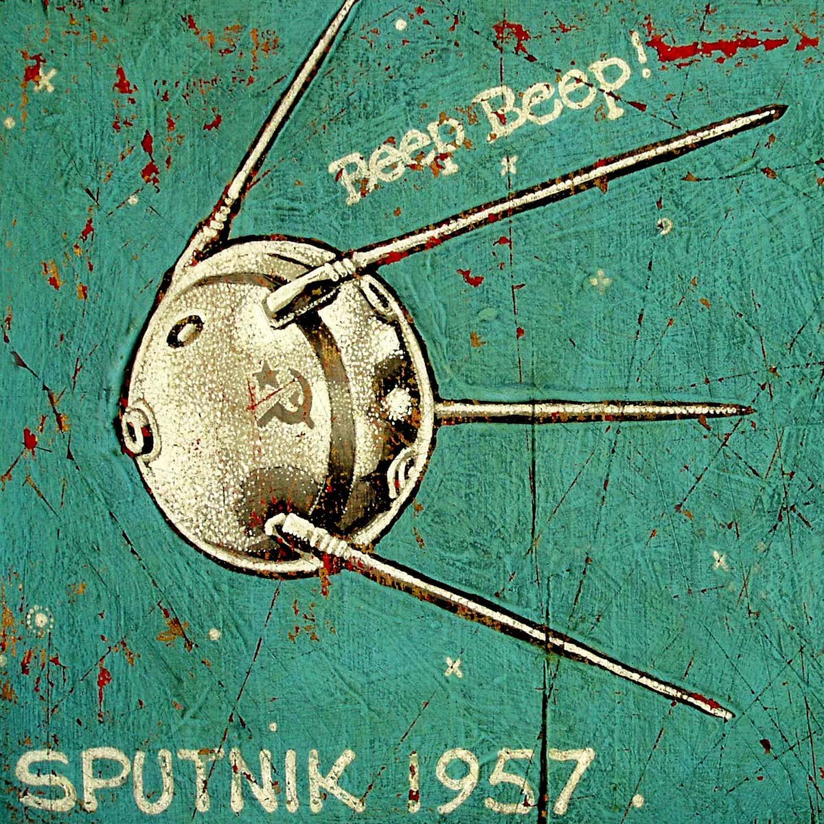 Sputnik 1957 - Jon Langford - Yard Dog Art