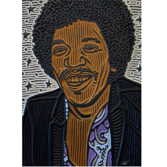 Jimi Hendrix - Lisa Brawn - Yard Dog Art