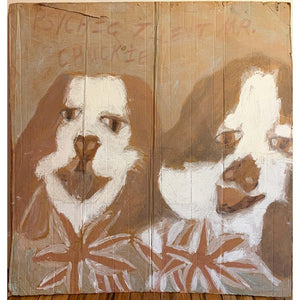 Loni & Burt / 2 Dogs - Chuckie Williams - Yard Dog Art