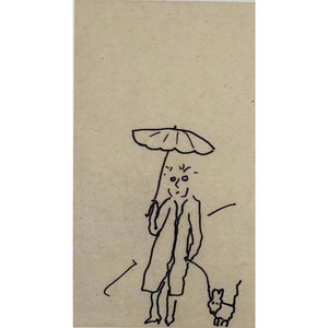 Woman With A Dog - Darden Smith - Yard Dog Art