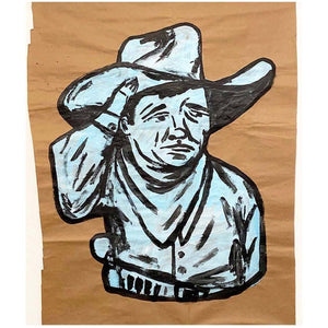 Blue Cowboy - Fort Guerin - Yard Dog Art