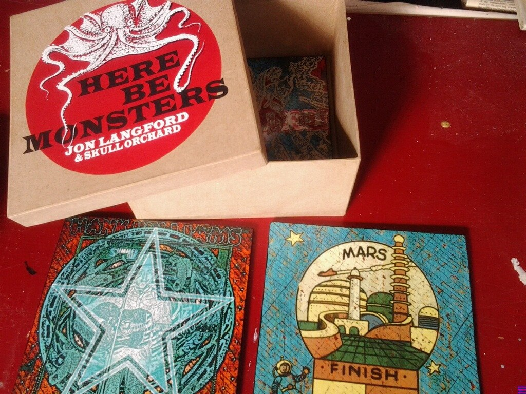 HERE BE MONSTERS Limited Edition Deluxe Art Box - Jon Langford - Yard Dog Art