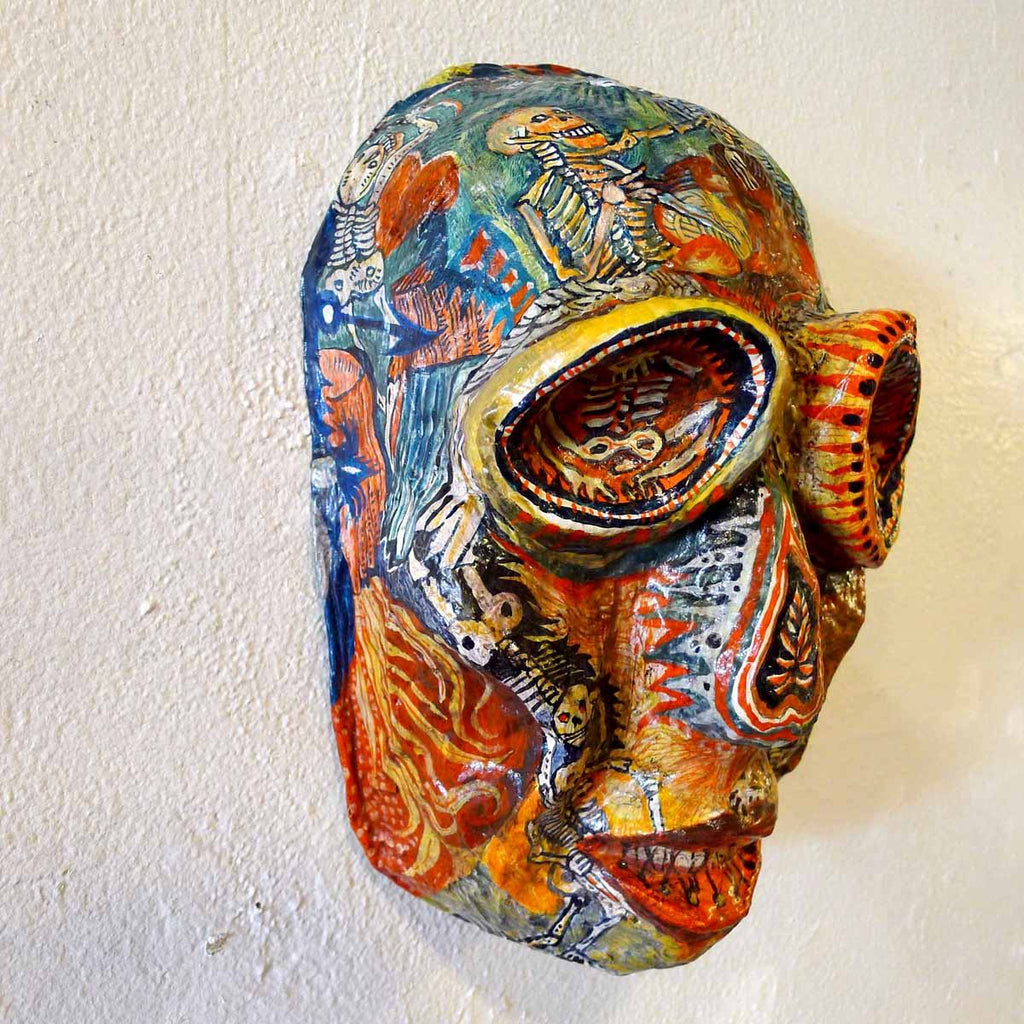 Skeleton Mask - Jo Clauwaert - Yard Dog Art