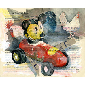 Bat Mickey - Jo Clauwaert - Yard Dog Art