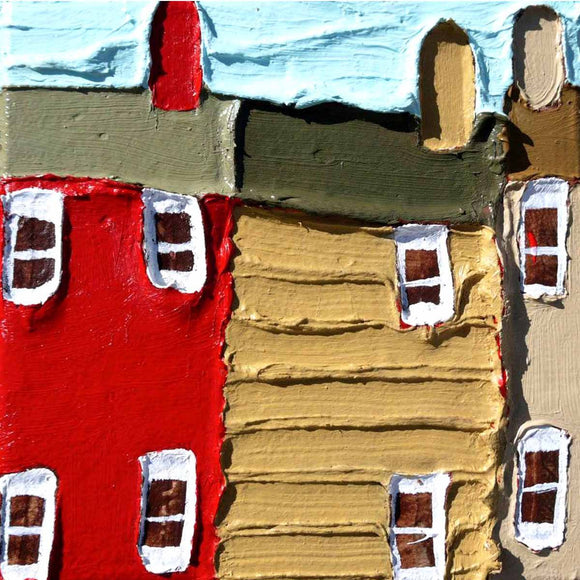 Three Tiny Houses - Jennifer Harrison - Yard Dog Art
