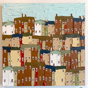 Four White Houses - Jennifer Harrison - Yard Dog Art