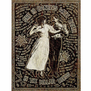 She Is Dancing With Death In The Dollar Dress - Jon Langford - Yard Dog Art