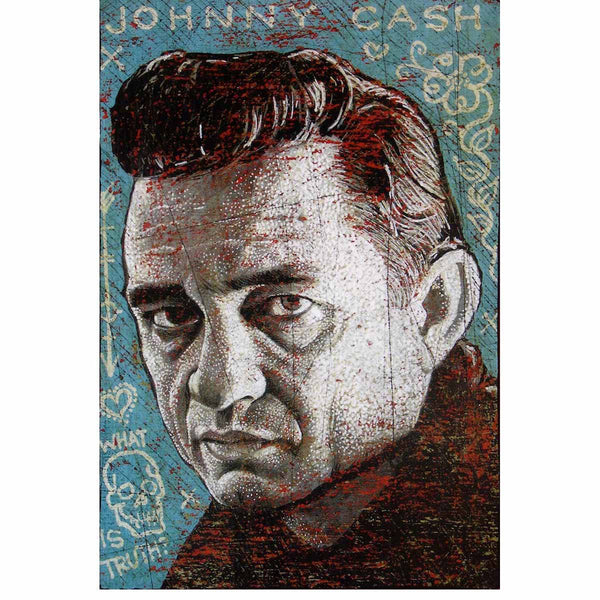 Johnny Cash - What Is Truth? - Jon Langford - Yard Dog Art