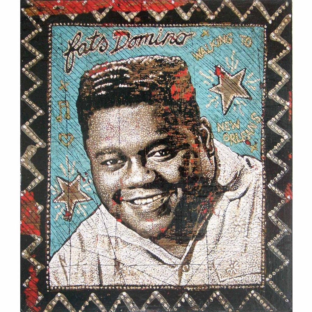 "www.yarddog.com, Jon Langford ""Fats Domino"""