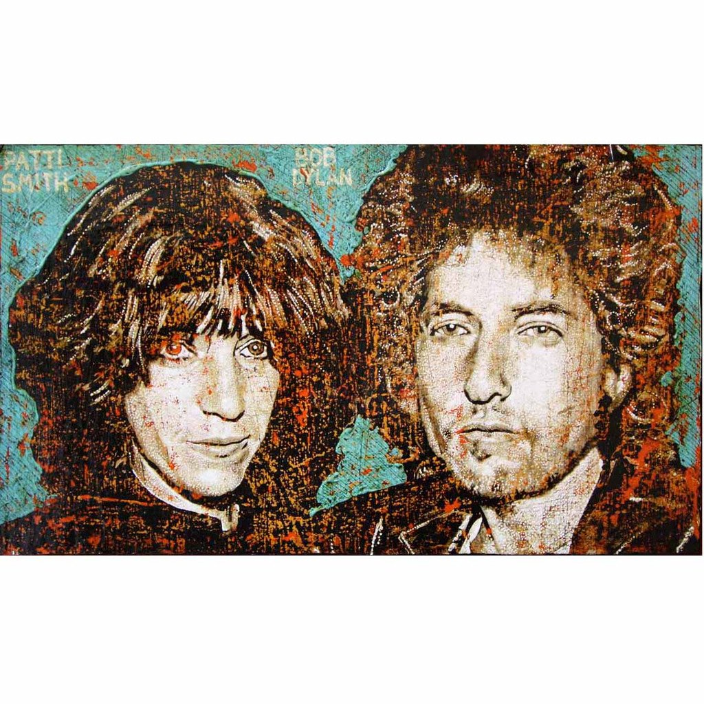 Patti Smith & Bob Dylan - Jon Langford - Yard Dog Art