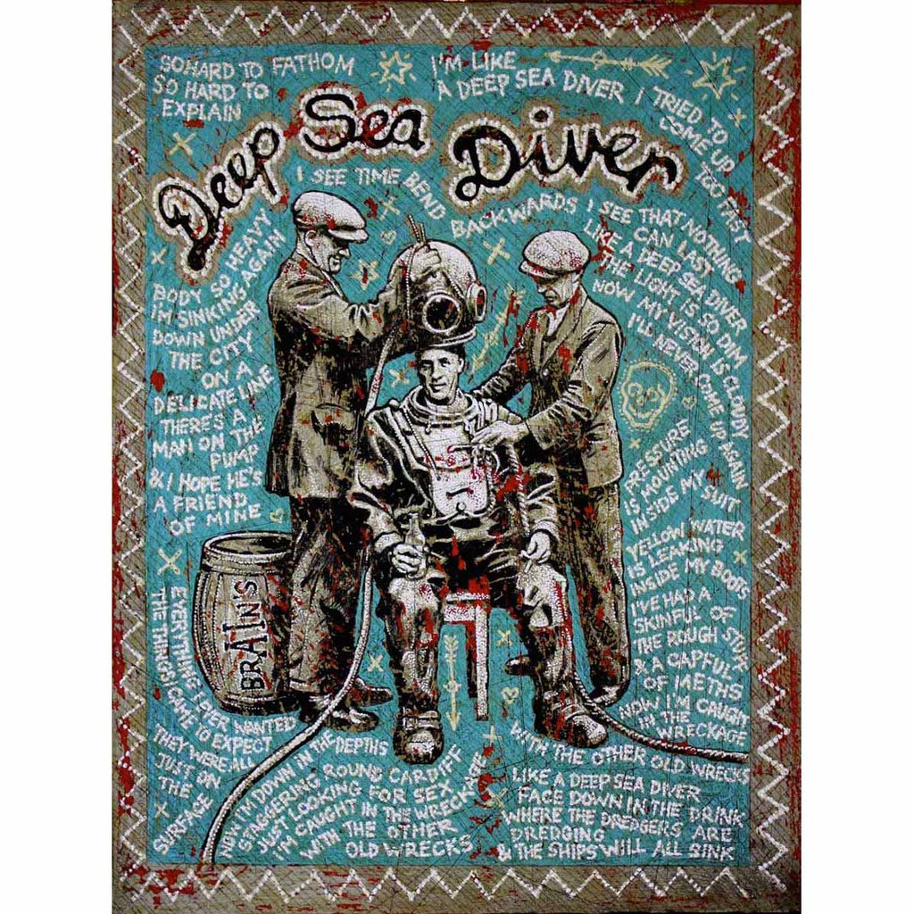 Deep Sea Diver - Jon Langford - Yard Dog Art