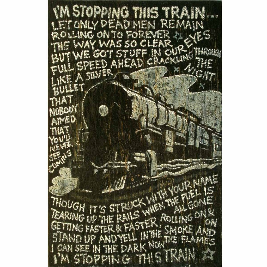 "www.yarddog.com, Jon Langford ""I'm Stopping This Train"""