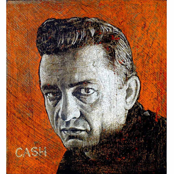 Cash (On Red) - Jon Langford - Yard Dog Art