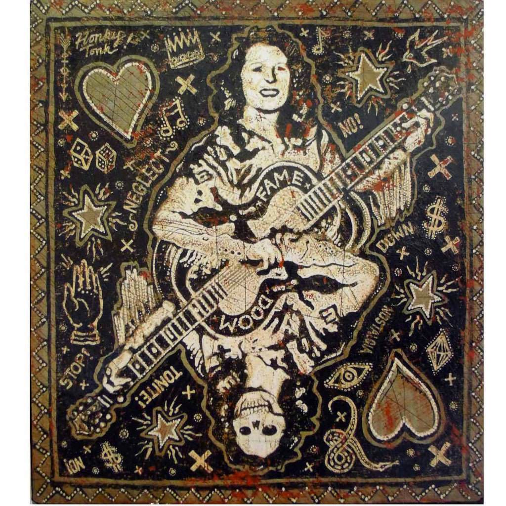 The Queen of Hearts - Jon Langford - Yard Dog Art