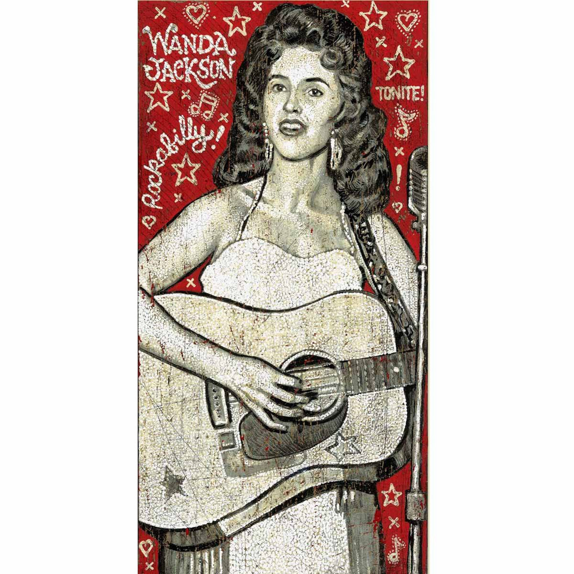 Wanda Jackson - Jon Langford - Yard Dog Art