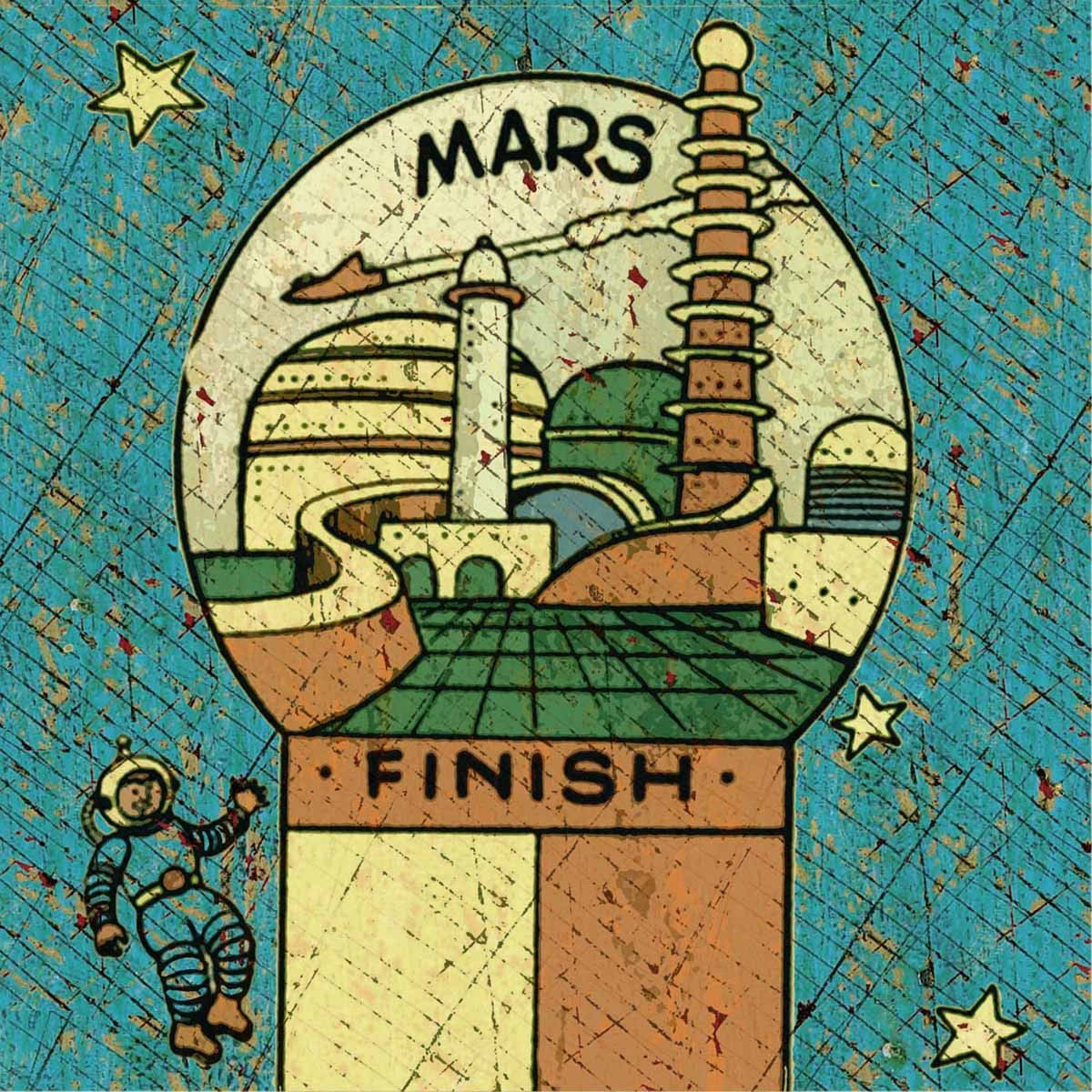 Mars - Jon Langford - Yard Dog Art