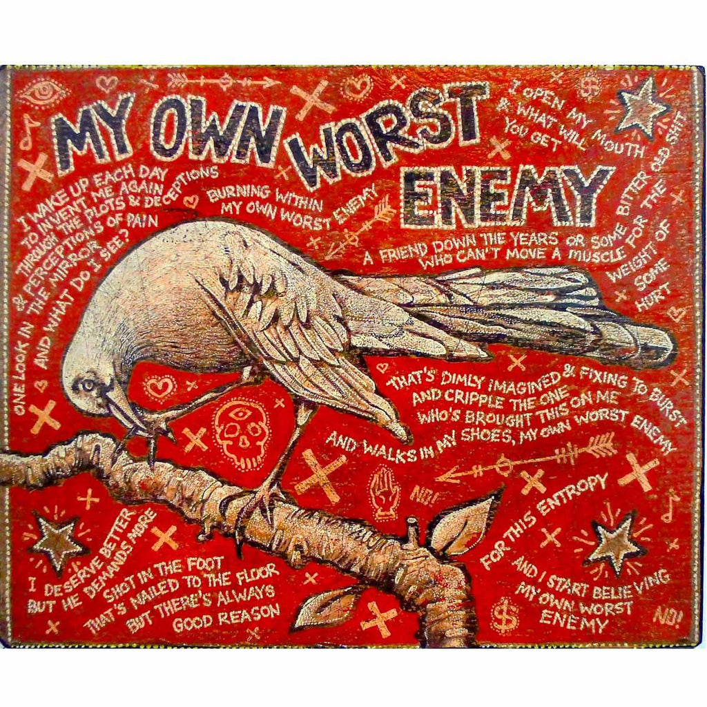 My Own Worst Enemy - Jon Langford - Yard Dog Art