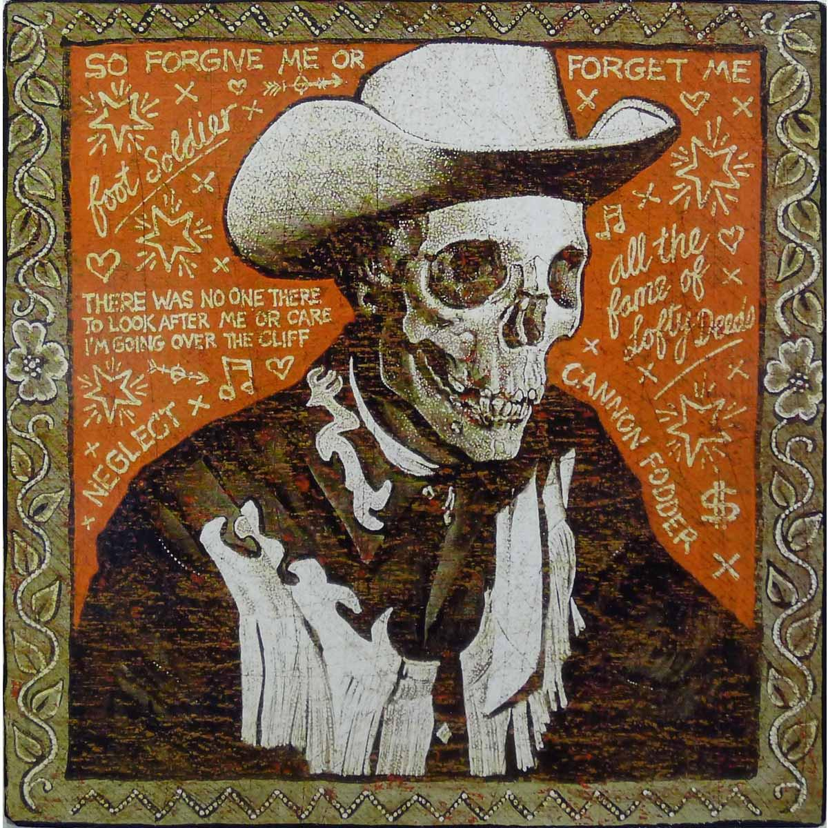 Over The Cliff - Jon Langford - Yard Dog Art