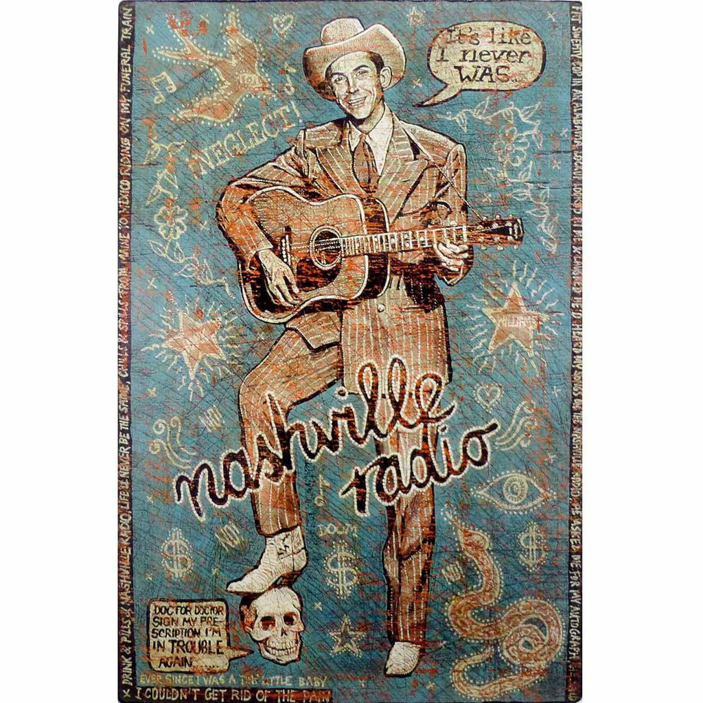Hank - Nashville Radio - Jon Langford - Yard Dog Art