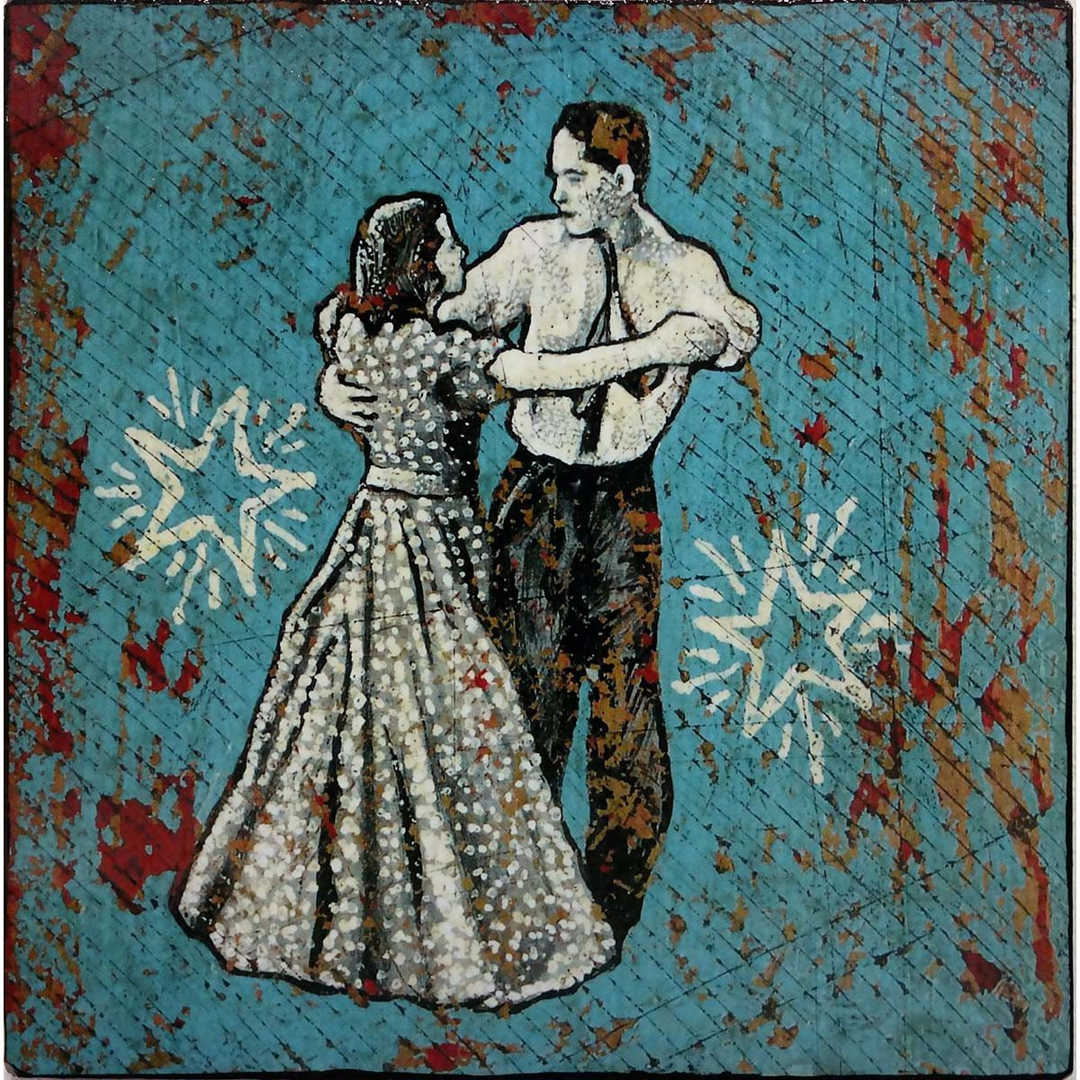 Dancing With Death In The Dollar Dress - Jon Langford - Yard Dog Art