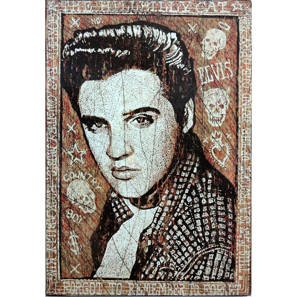 Elvis - Hillbilly Cat - Jon Langford - Yard Dog Art
