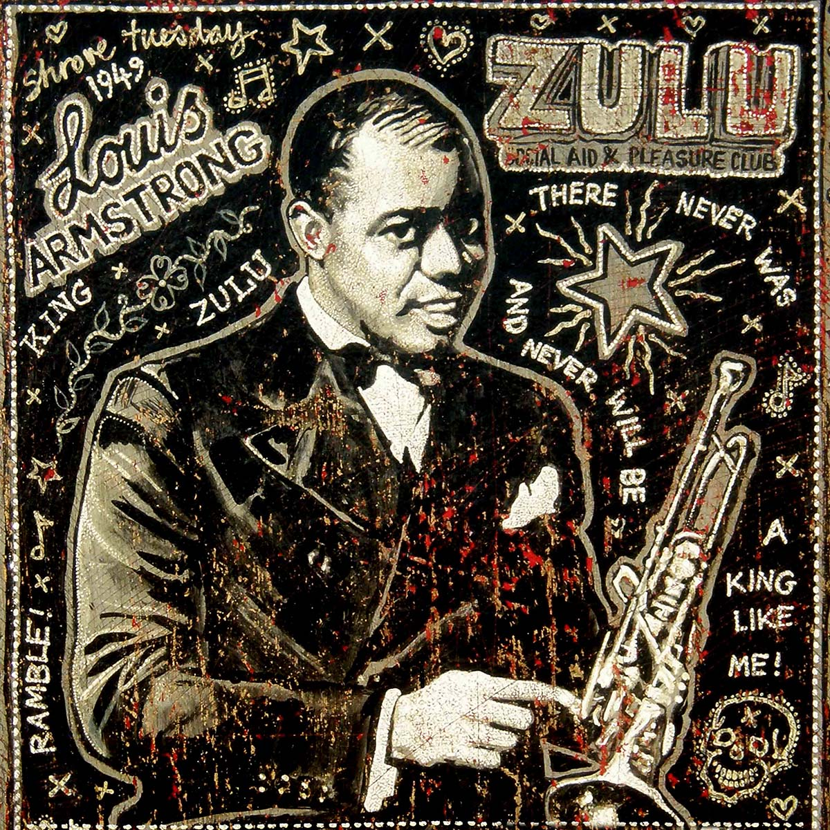 Louis Armstrong - Jon Langford - Yard Dog Art