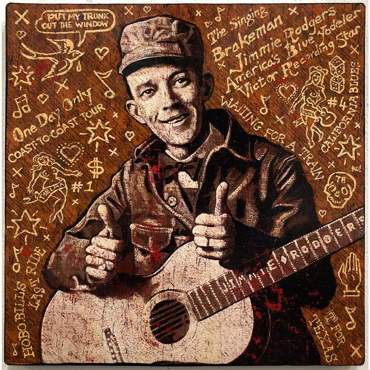 Jimmie Rogers - Jon Langford - Yard Dog Art