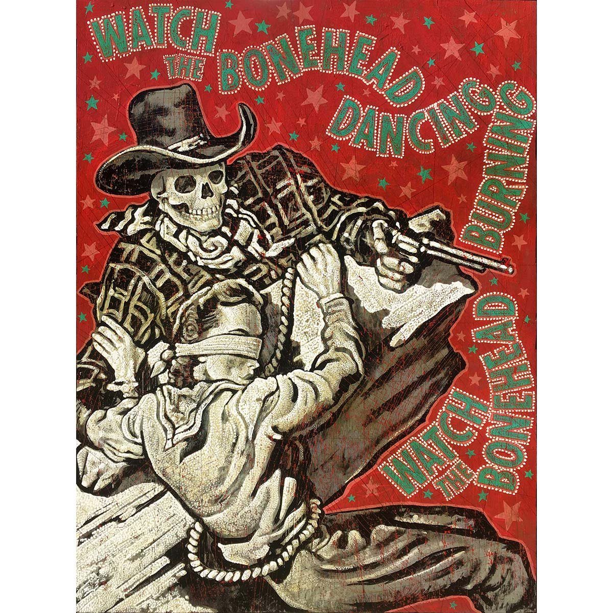 Bonehead Dancing - Jon Langford - Yard Dog Art