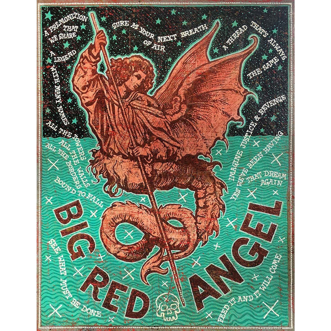 Big Red Angel - Jon Langford - Yard Dog Art