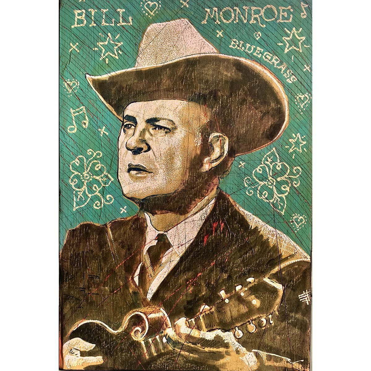 Bill Monroe - Jon Langford - Yard Dog Art