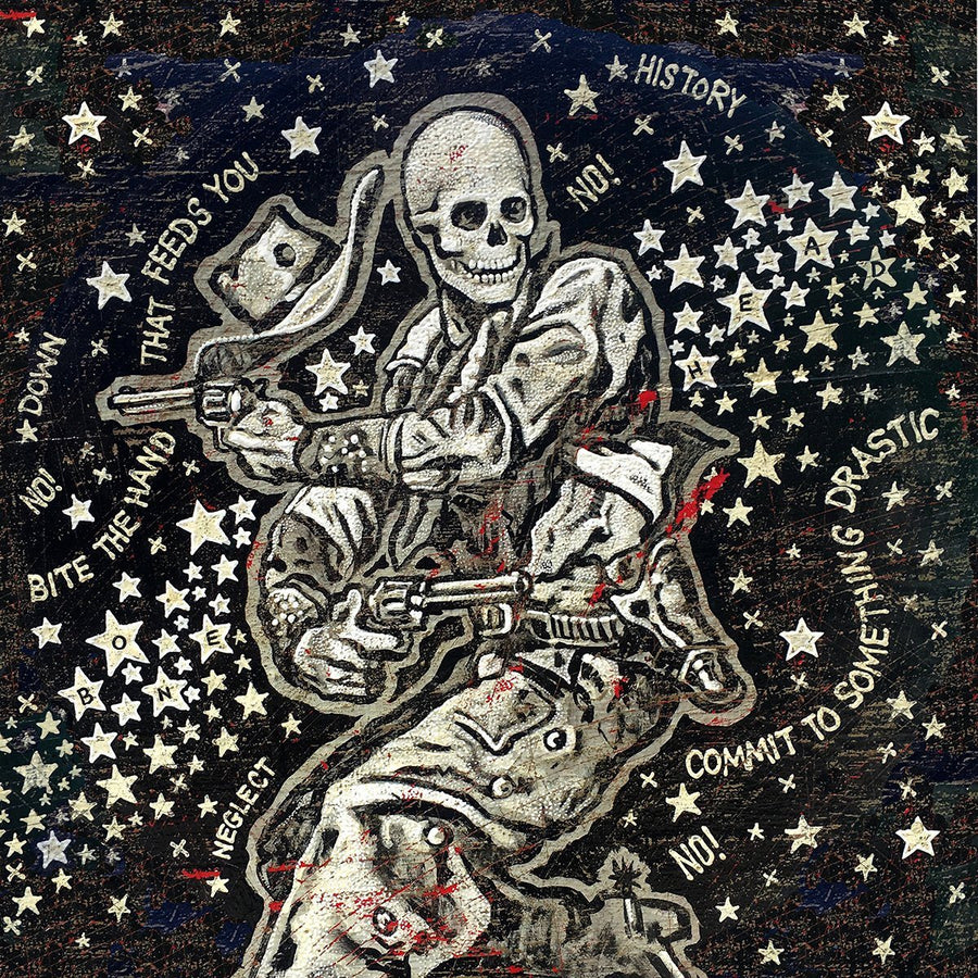 Going Down In History Bonehead - Jon Langford - Yard Dog Art