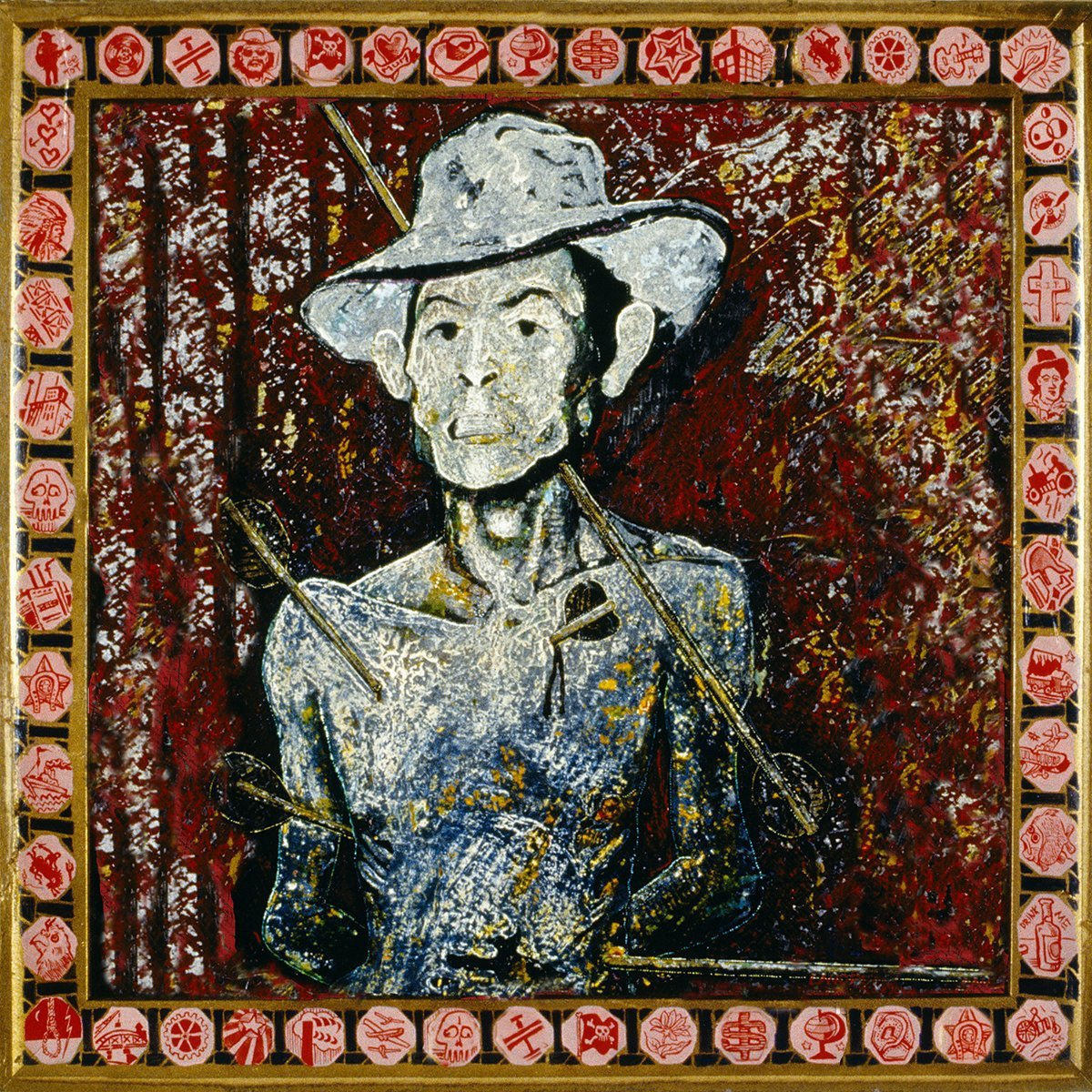 Hank Shot Through With Arrows - Jon Langford - Yard Dog Art
