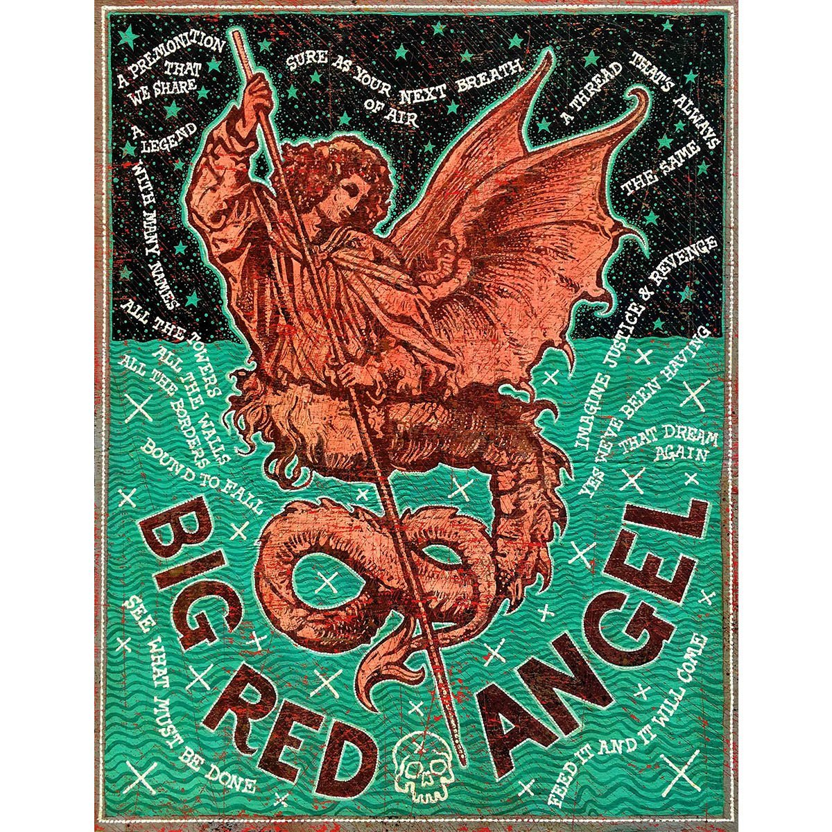 Big Red Angel - Large Print
