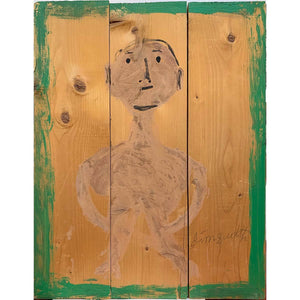 Man On Wood Slats - Jimmy Lee Sudduth - Yard Dog Art