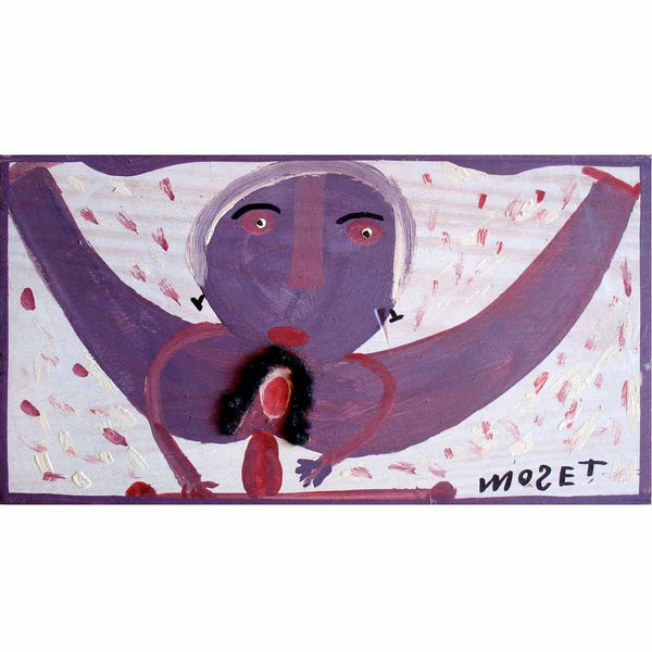 Moose Lady With Hair - Mose Tolliver - Yard Dog Art