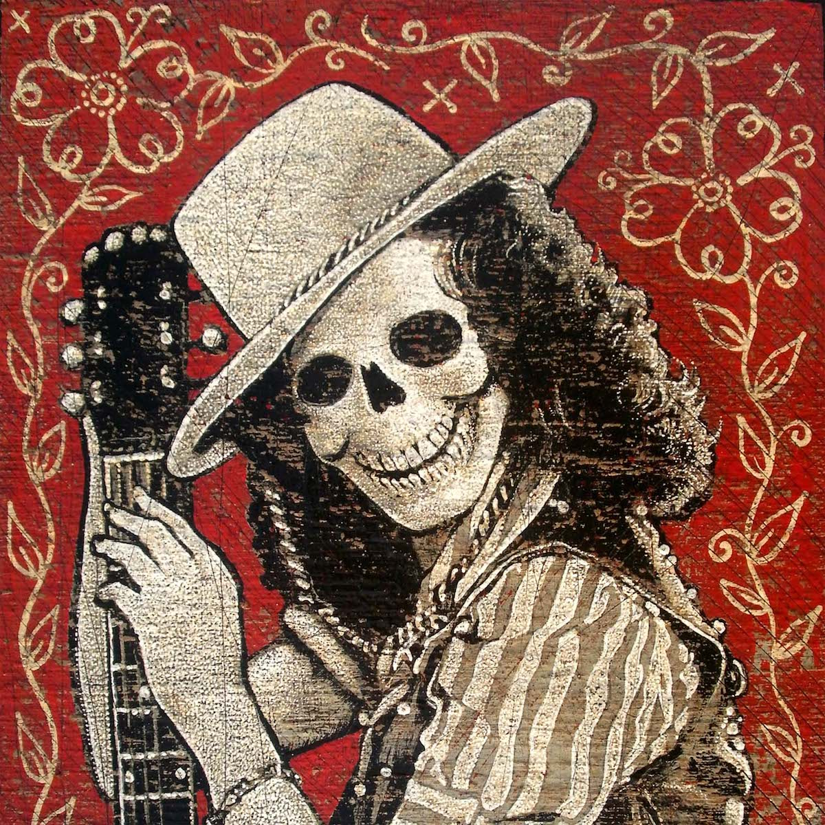 Red Skull Girl - Jon Langford - Yard Dog Art