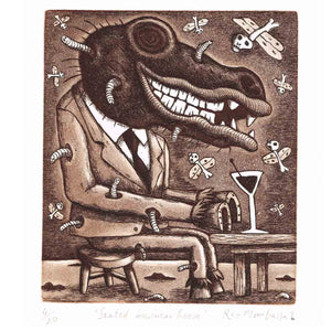 Seated Business Horse - Reg Mombassa - Yard Dog Art