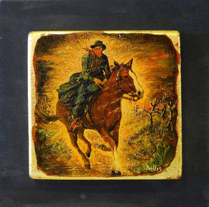 Galloping Horse & Rider - Eric Bellis - Yard Dog Art
