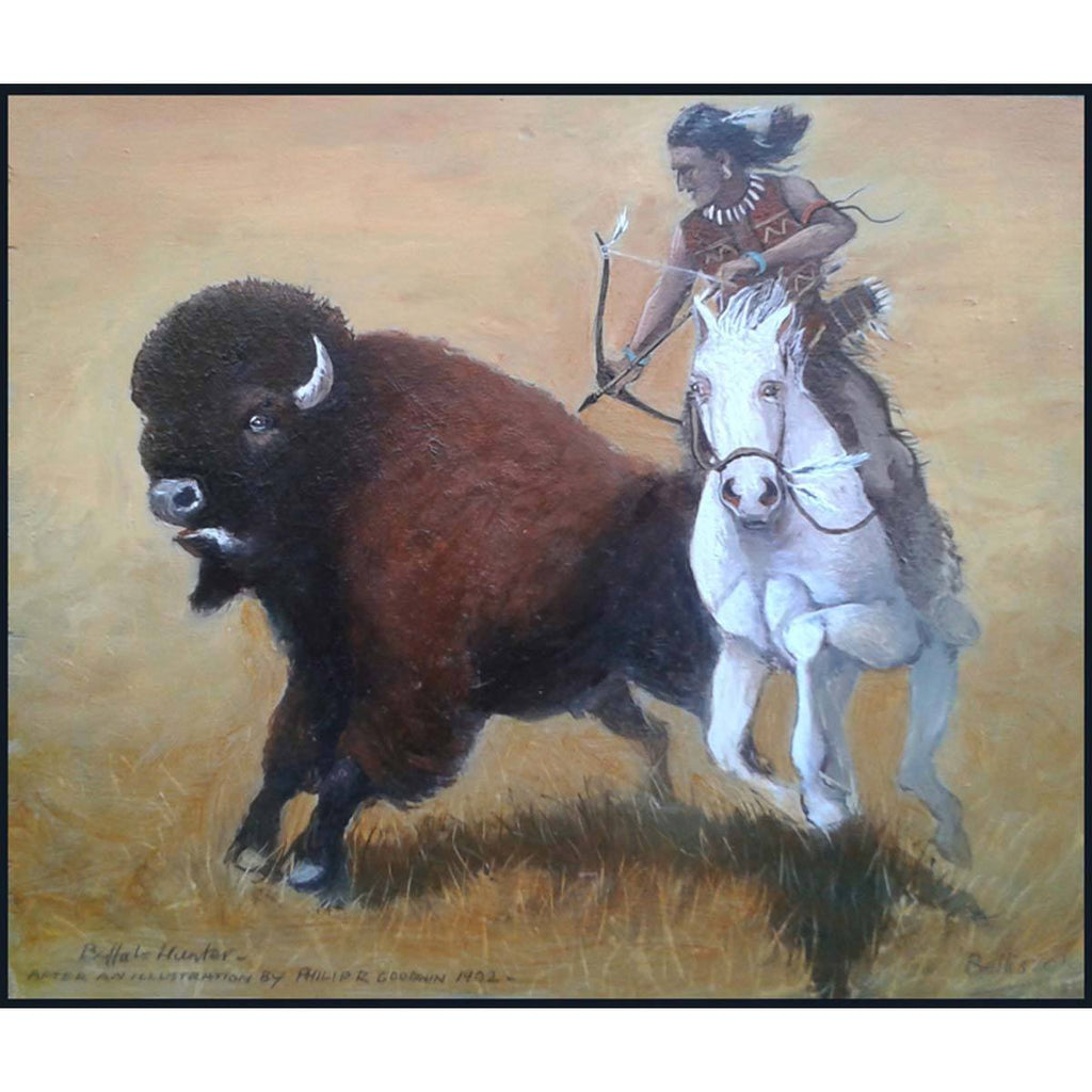 Buffalo Hunter Study - Eric Bellis - Yard Dog Art