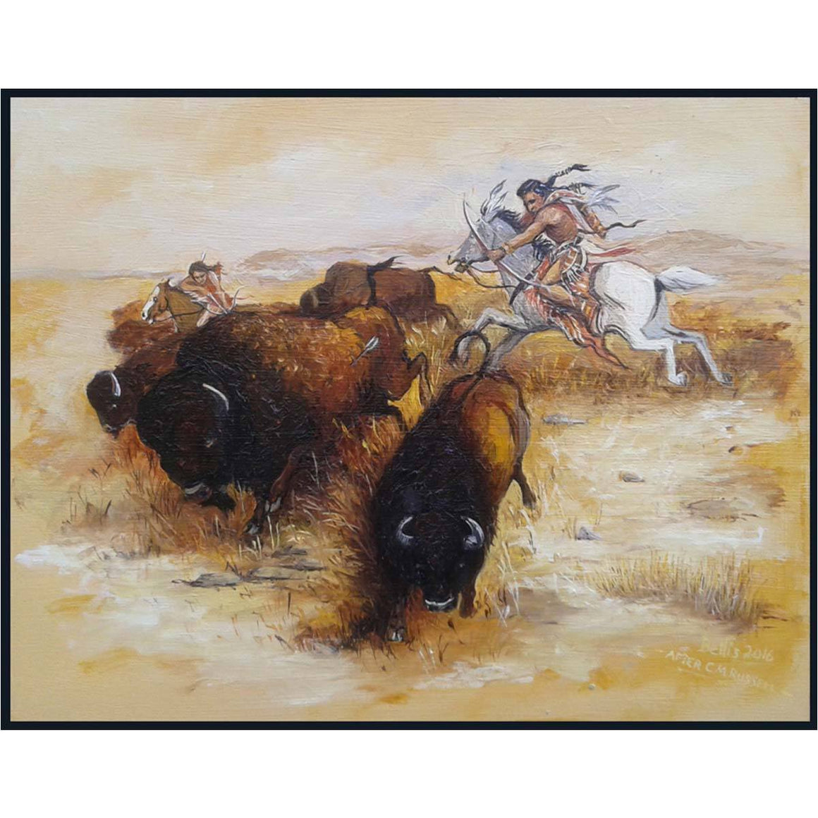 Buffalo Hunting Study - Eric Bellis - Yard Dog Art