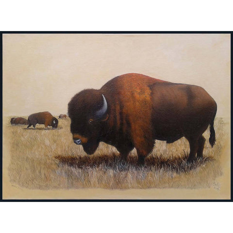 Buffalo Painting I - Eric Bellis - Yard Dog Art