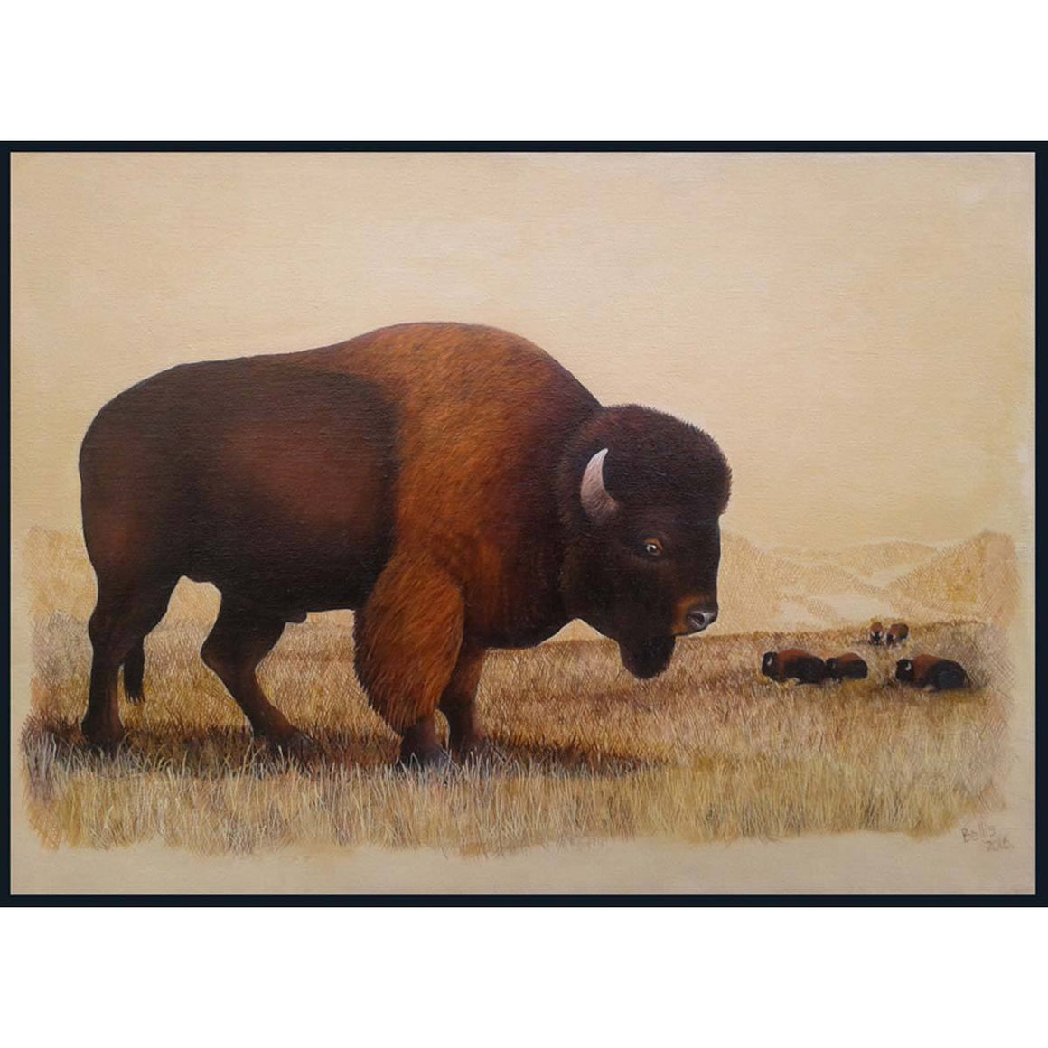 Buffalo Painting II - Eric Bellis - Yard Dog Art