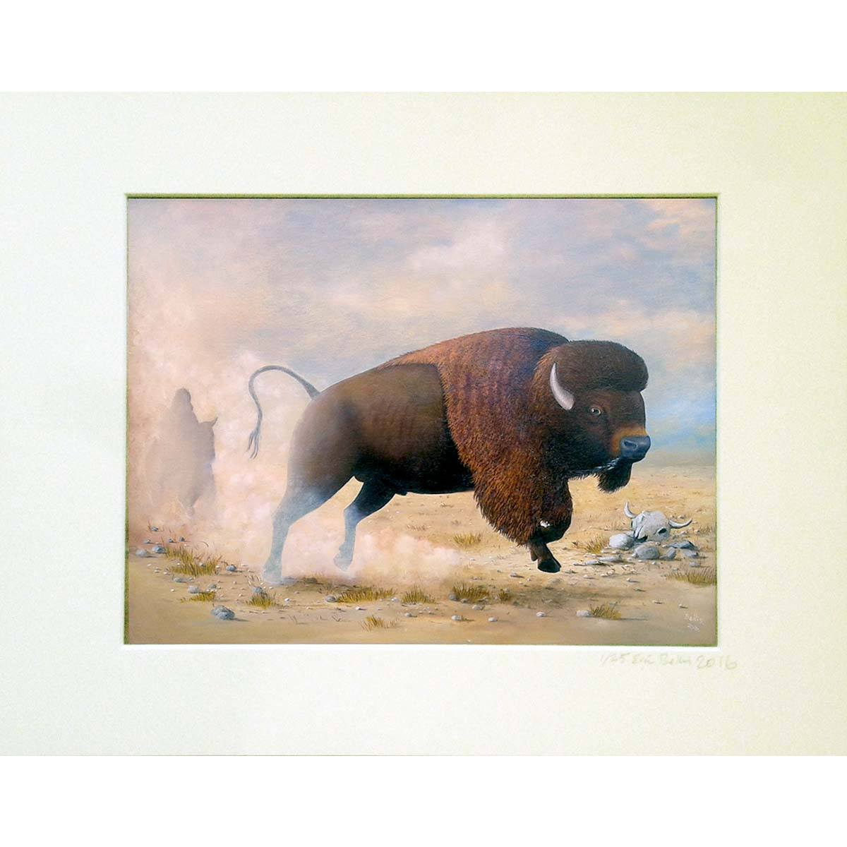 Running Buffalo Print - Eric Bellis - Yard Dog Art