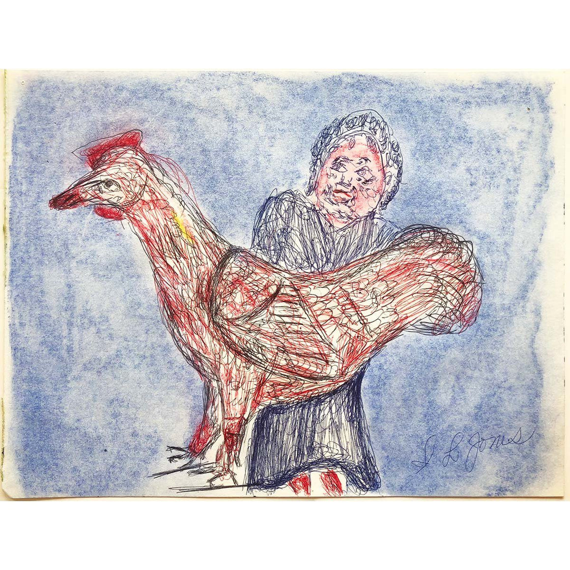 Rooster & Woman