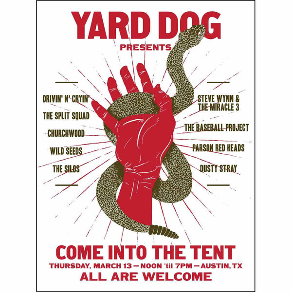 Snake Poster 2014 - Yard Dog - Yard Dog Art