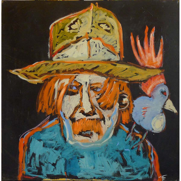 Captain Beefheart With Exotic Bird - Tom Russell - Yard Dog Art