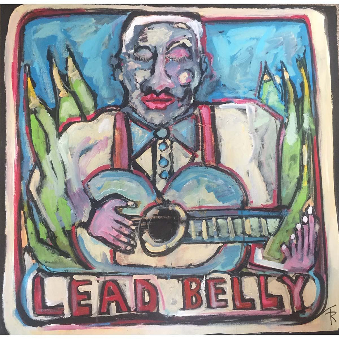 Lead Belly - Goodnight Irene - Tom Russell - Yard Dog Art