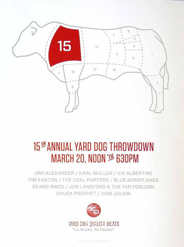 15th Annual Poster - Yard Dog - Yard Dog Art